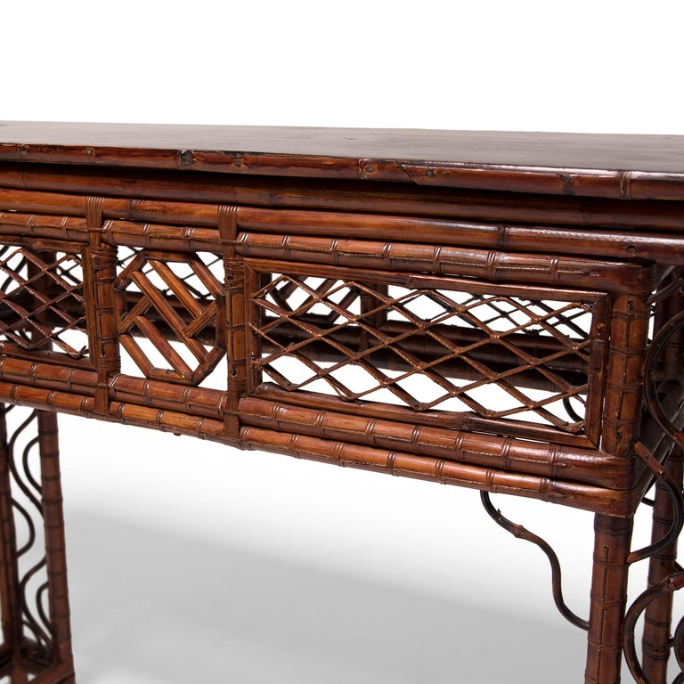 Early 20th Century Chinese Bent Bamboo Altar Table 4