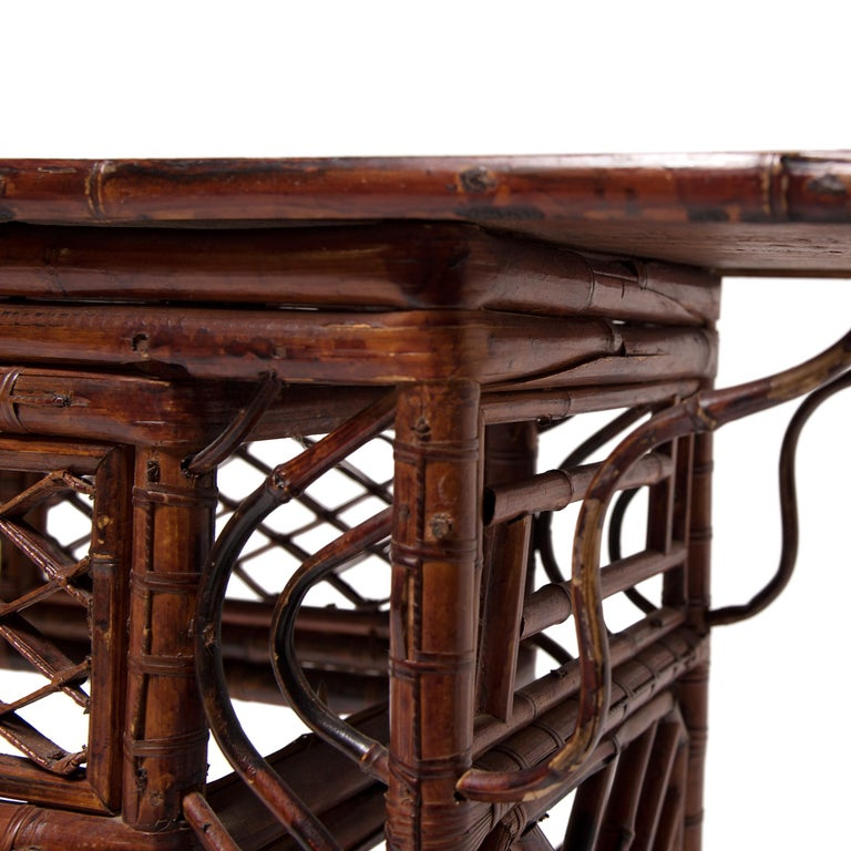 Early 20th Century Chinese Bent Bamboo Altar Table 5