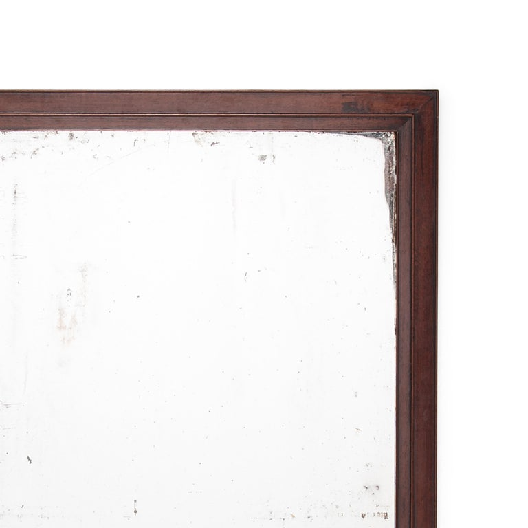 Qing Early 20th Century Chinese Calligrapher's Frame with Mirror For Sale