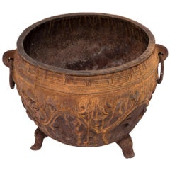 Early 20th Century Chinese Cast Iron Lotus Basin