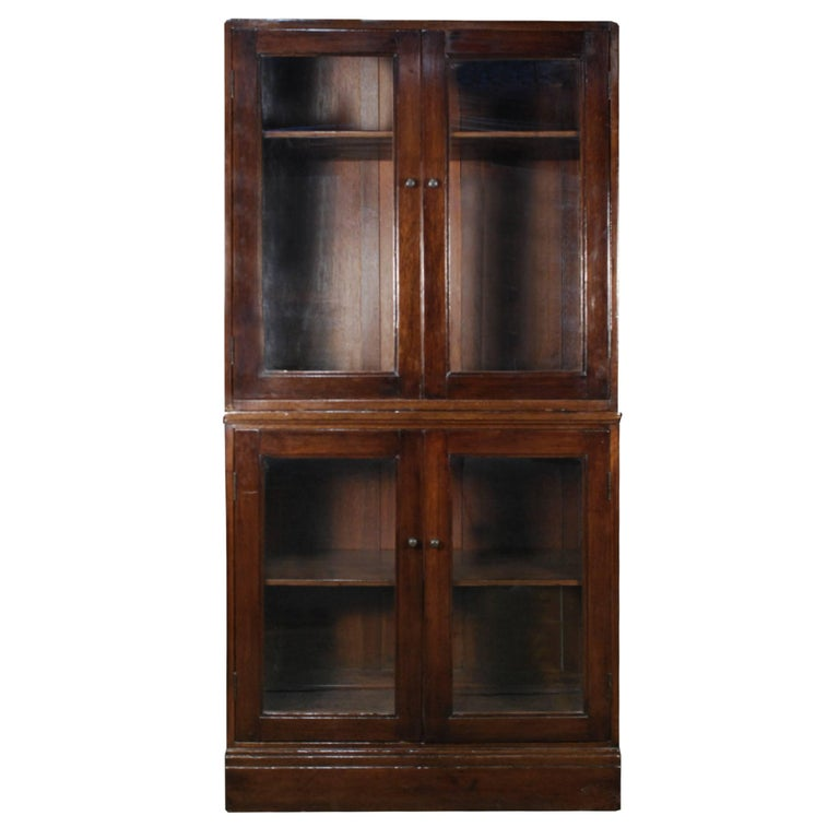 Early 20th Century Chinese Colonial Glass Cabinet For Sale