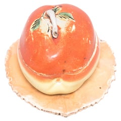 Early 20th Century Chinese Covered Porcelain Peach