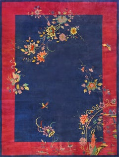 Early 20th Century Hand-Woven Chinese Deco Rug
