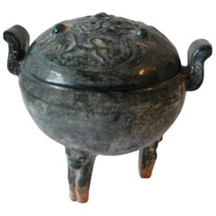 Early 20th Century Chinese Ding, Ritual Food Vessel