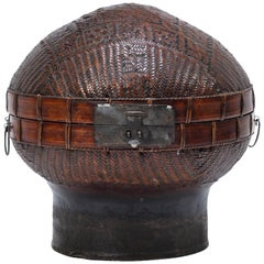 Early 20th Century Chinese Double Happiness Hat Box