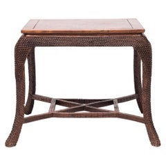 Early 20th Century Chinese Dragon Scale Tea Table