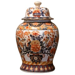 Early 20th Century Chinese Export Porcelain Ginger Jar with Lid