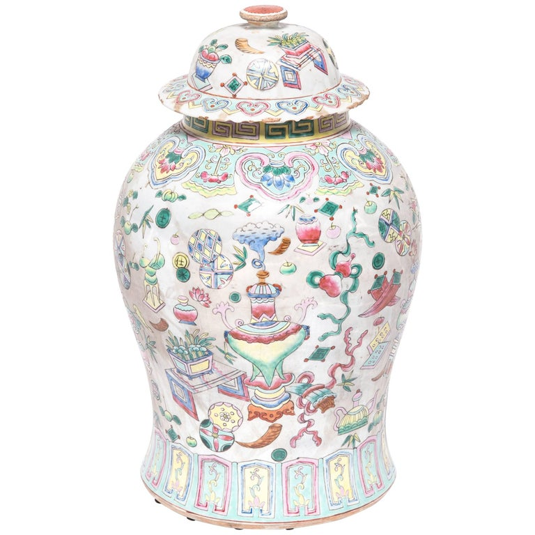 Chinese famille rose porcelain baluster jar, 1920, offered by Pagoda Red