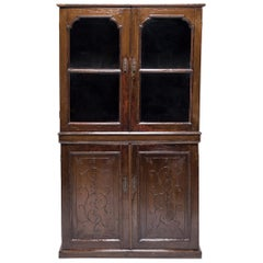 Early 20th Century Chinese Four-Door Glass Front Cabinet