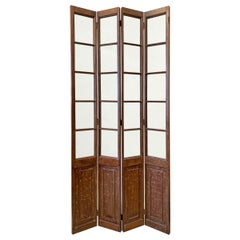 Early 20th Century Chinese Four-Panel Room Divider