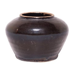 Chinese Dark Glazed Kitchen Jar, c. 1900