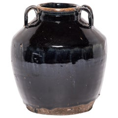 Early 20th Century Chinese Glazed Soy Vessel