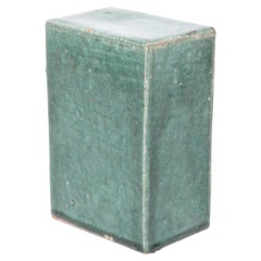 Early 20th Century Chinese Green Glazed Ceramic Headrest
