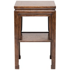 Early 20th Century Chinese Huanghuali Display Table with Shelf
