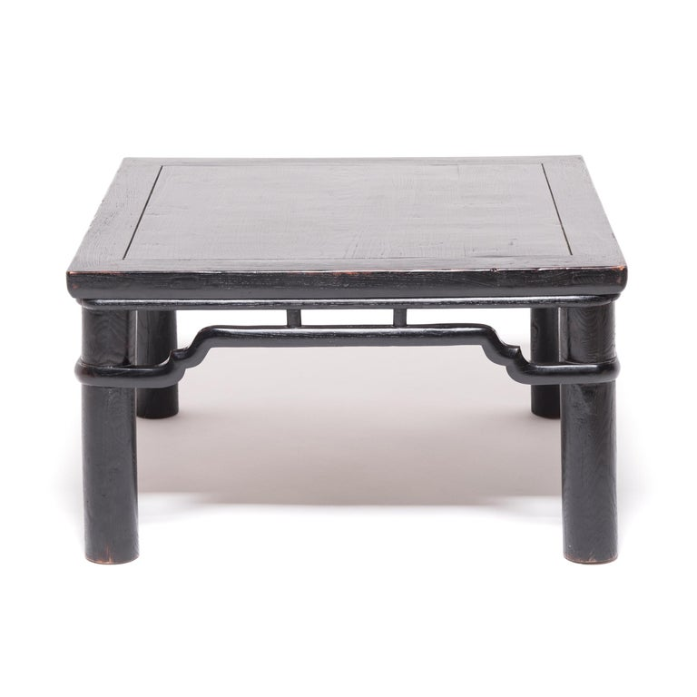 Qing Early 20th Century Chinese Low Square Table For Sale