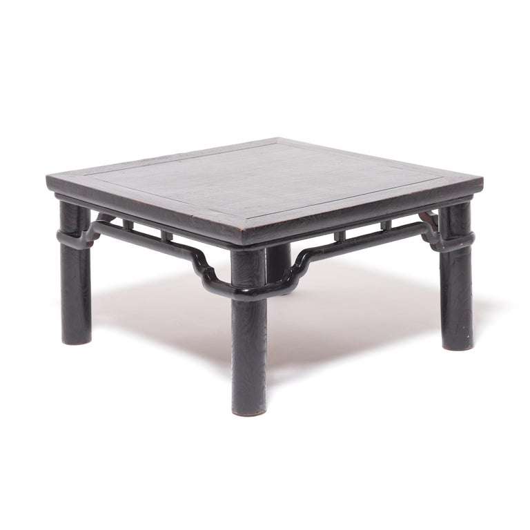 Lacquered Early 20th Century Chinese Low Square Table For Sale