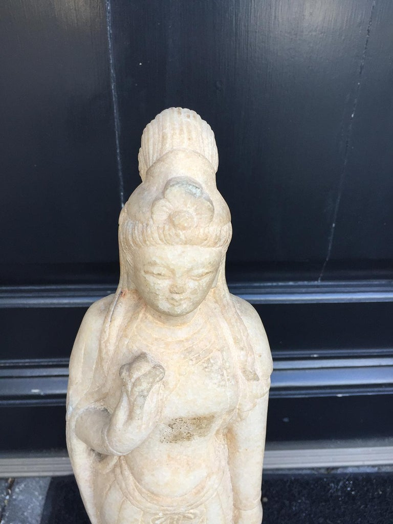 Early 20th century Chinese marble figure.