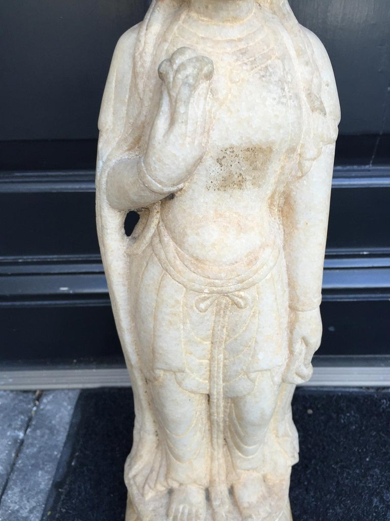Early 20th Century Chinese Marble Figure In Good Condition For Sale In Atlanta, GA
