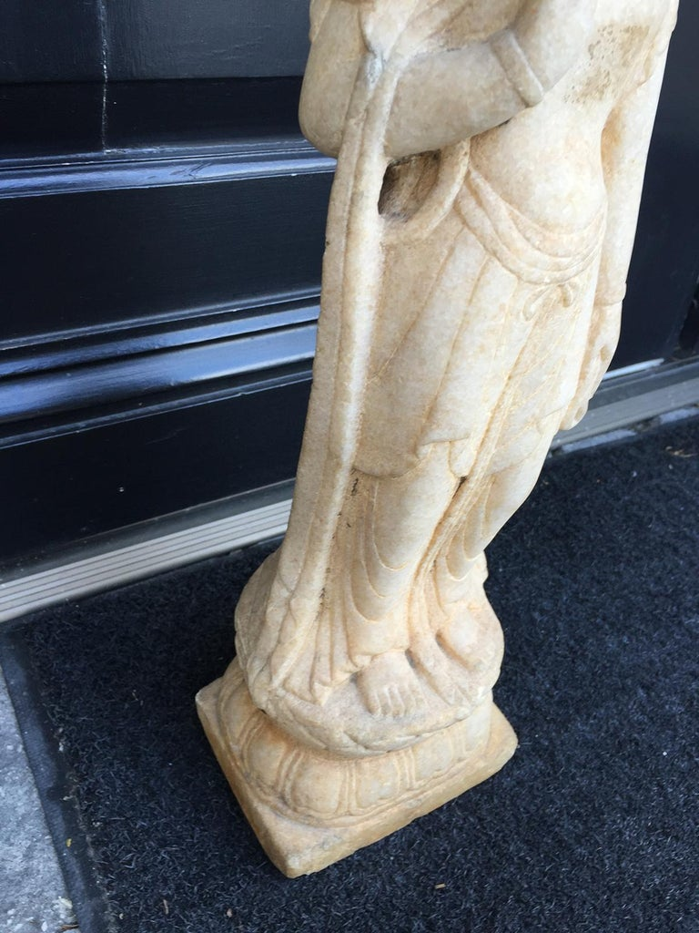 Early 20th Century Chinese Marble Figure For Sale 3