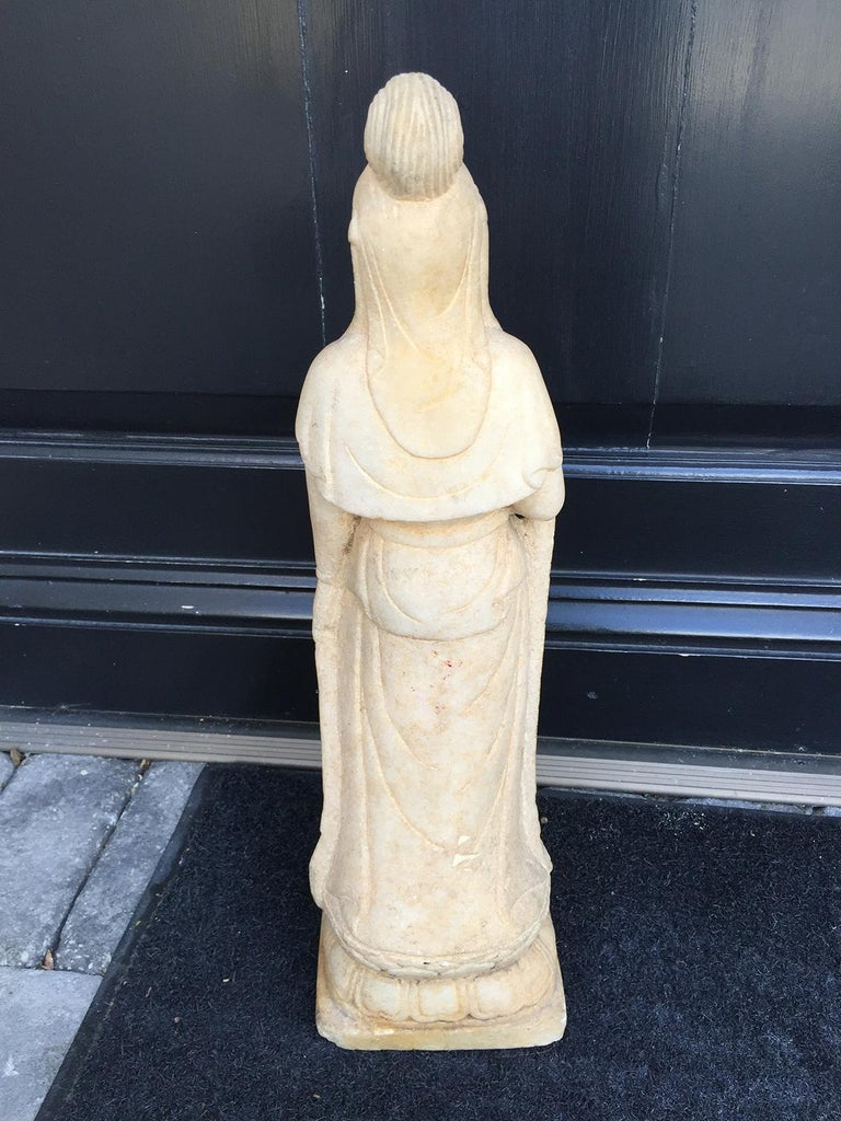 Early 20th Century Chinese Marble Figure For Sale 5
