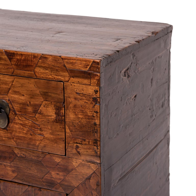 Early 20th Century Chinese Mixed Parquetry Cabinet For Sale 2