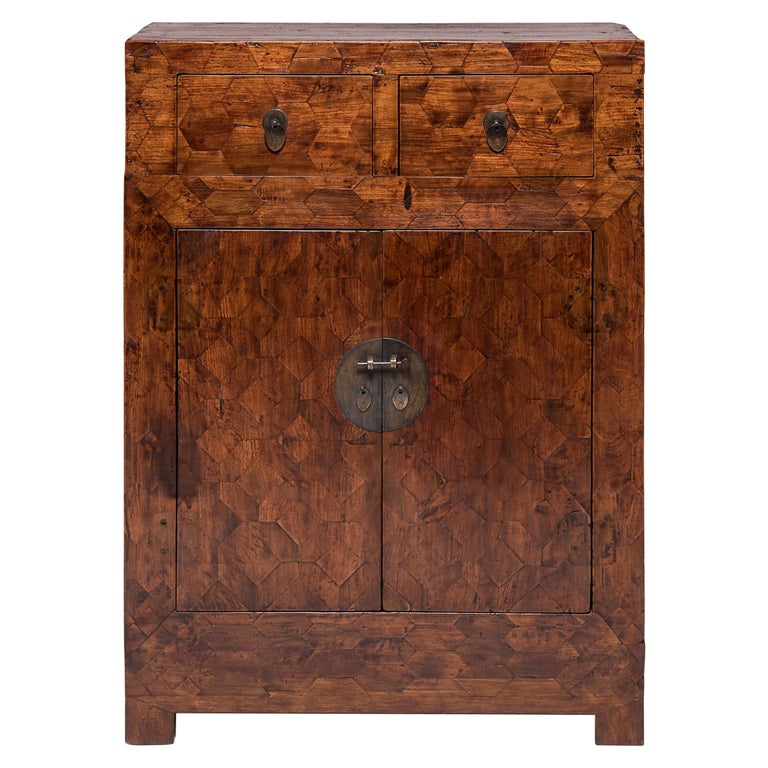 Early 20th Century Chinese Mixed Parquetry Cabinet For Sale