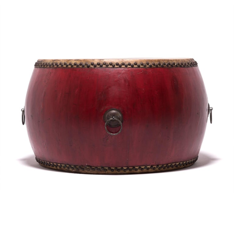 Early 20th Century Chinese Opera Drum In Good Condition For Sale In Chicago, IL