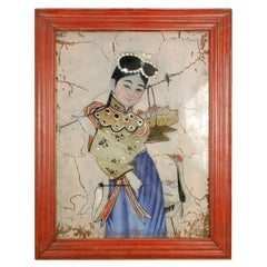 Early 20th Century Chinese Reverse Glass Painting