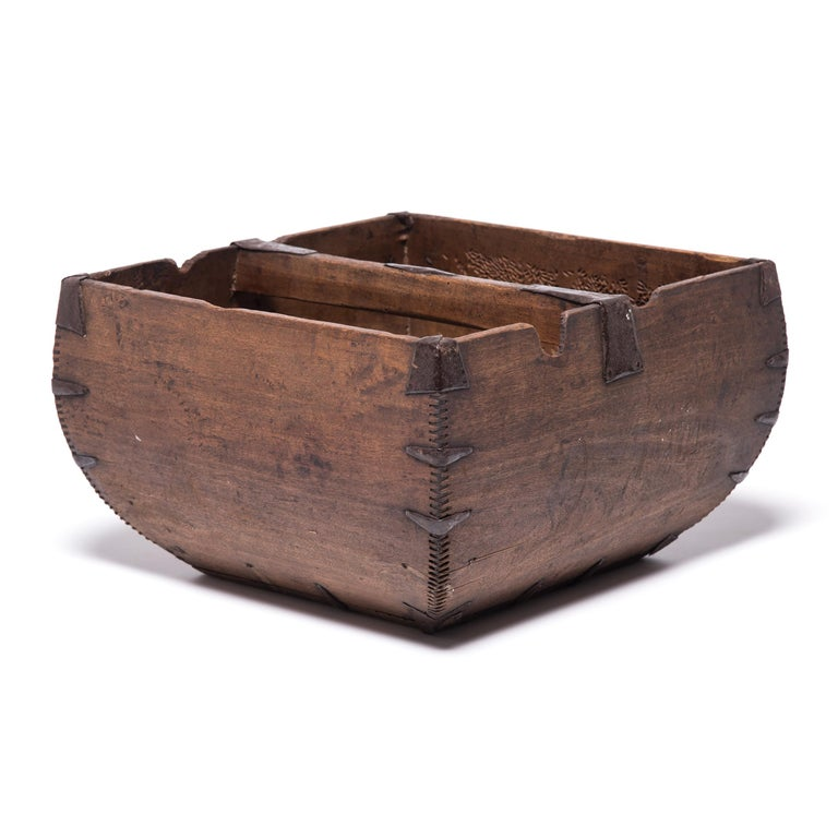 Qing Early 20th Century Chinese Rice Measure For Sale
