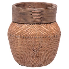 Early 20th Century Chinese Rimmed Fisherman Basket