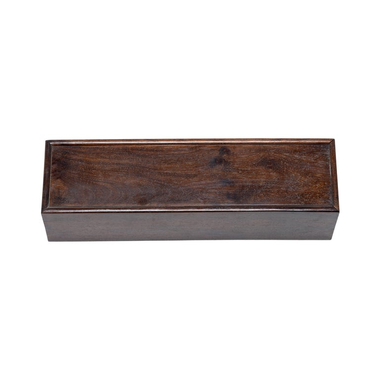 Early 20th Century Chinese Rosewood Scroll Case For Sale 1