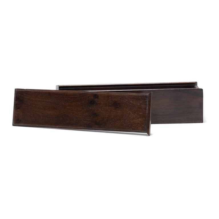 Early 20th Century Chinese Rosewood Scroll Case For Sale 2