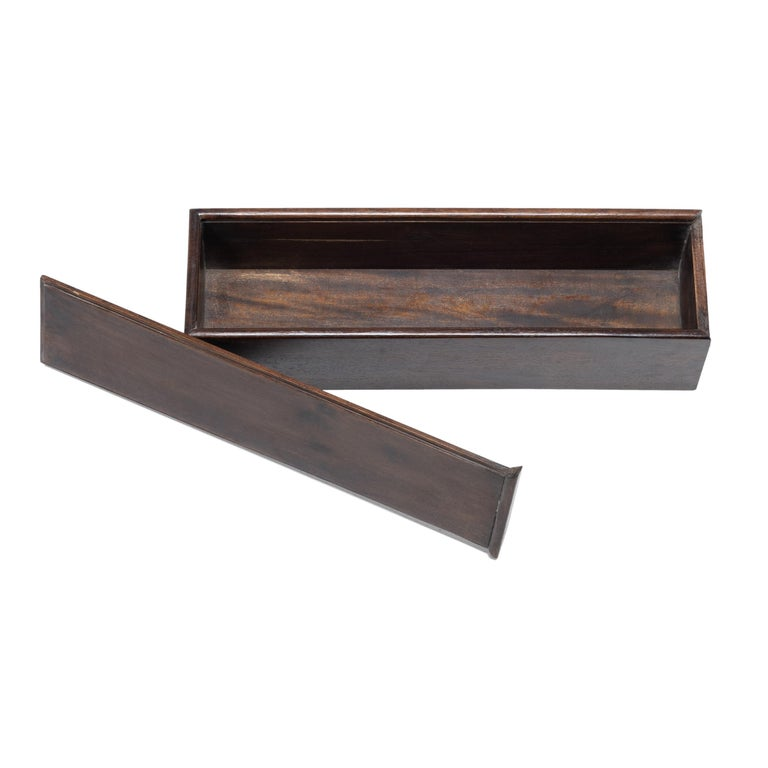 Early 20th Century Chinese Rosewood Scroll Case For Sale 3