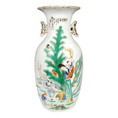 Early 20th Century Chinese Spring Blossoms Phoenix Tail Vase