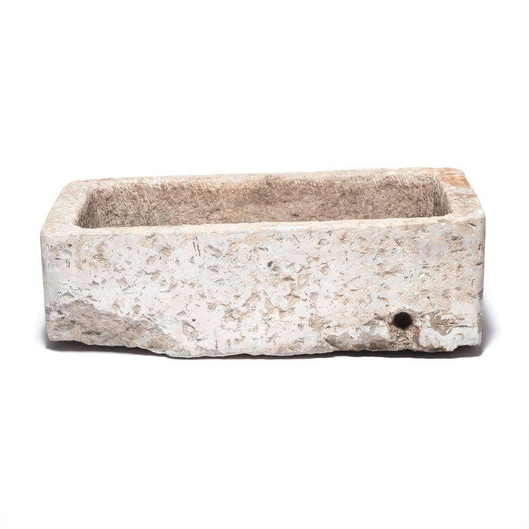 Qing Early 20th Century Chinese Stone Trough For Sale