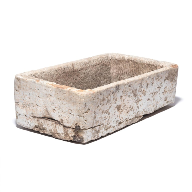 Hand-Carved Early 20th Century Chinese Stone Trough For Sale