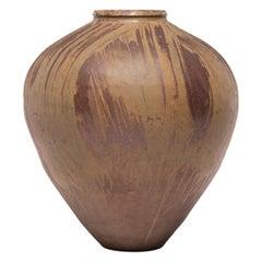 Early 20th Century Chinese Swirled Glaze Wine Jar