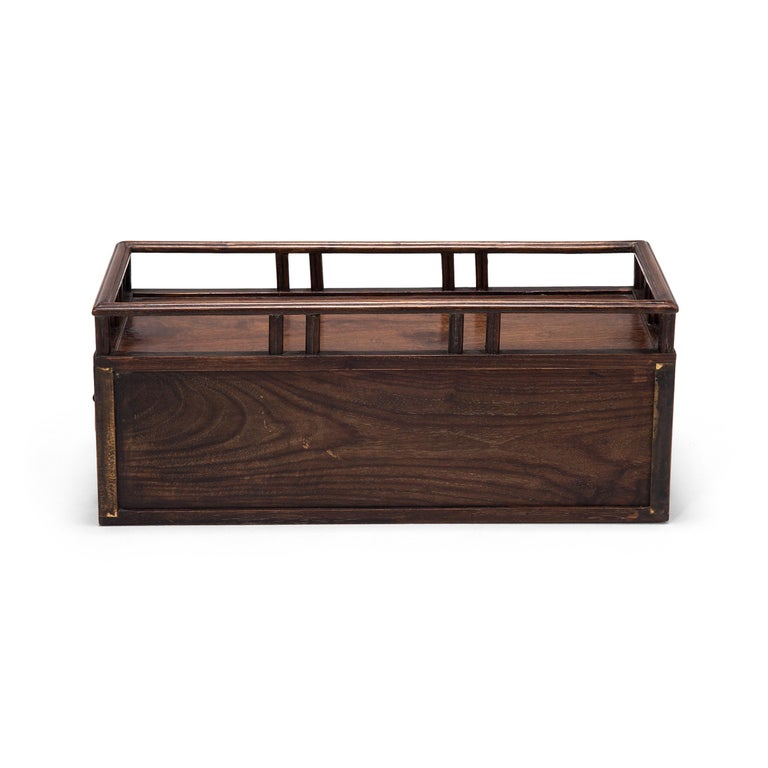 Qing Early 20th Century Chinese Tabletop Scholars' Chest For Sale