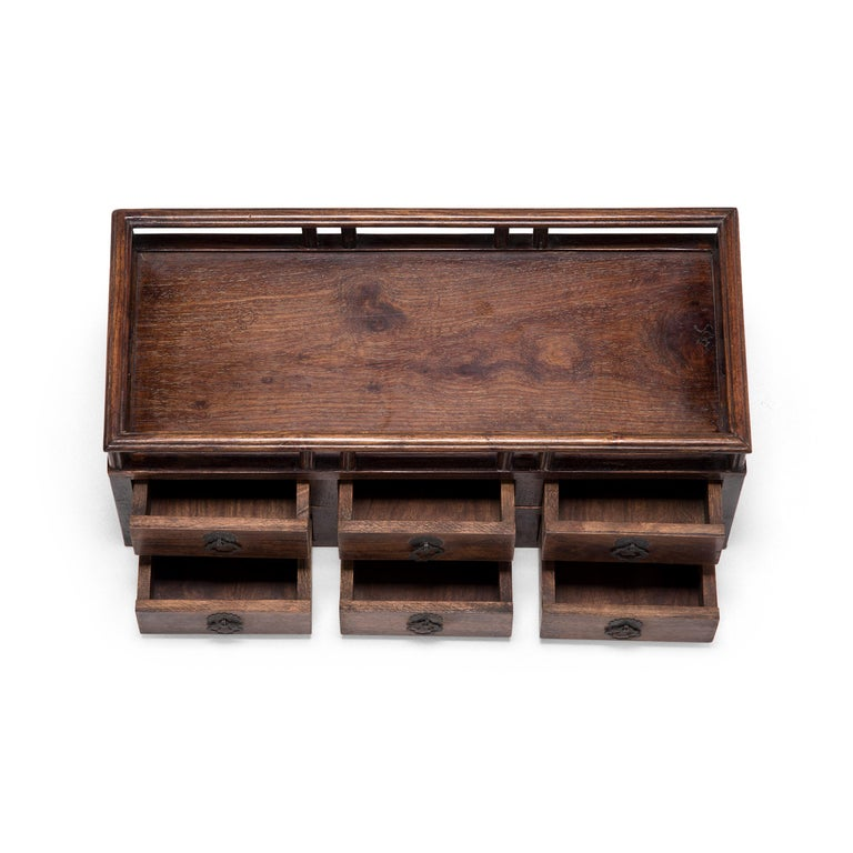 Early 20th Century Chinese Tabletop Scholars' Chest For Sale 1