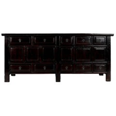 Early 20th Century Chinese Ten-Drawer Four Door Elm Coffer