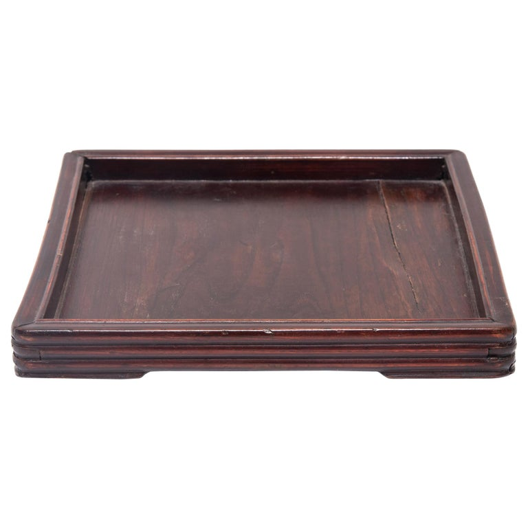 Early 20th Century Chinese Tray with Ridged Edges For Sale