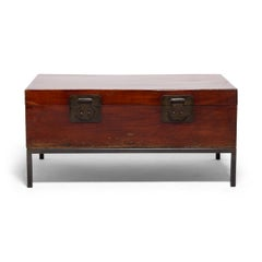 Early 20th Century Chinese Twin Attendants Trunk Table