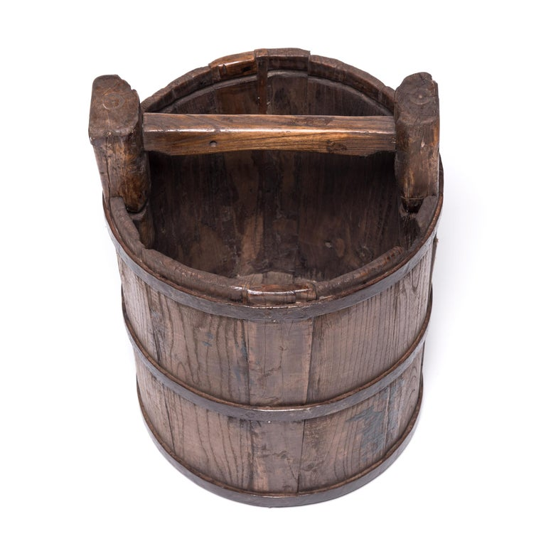 Iron Early 20th Century Chinese Well Bucket For Sale