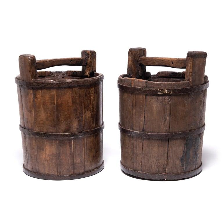 Early 20th Century Chinese Well Bucket For Sale 1