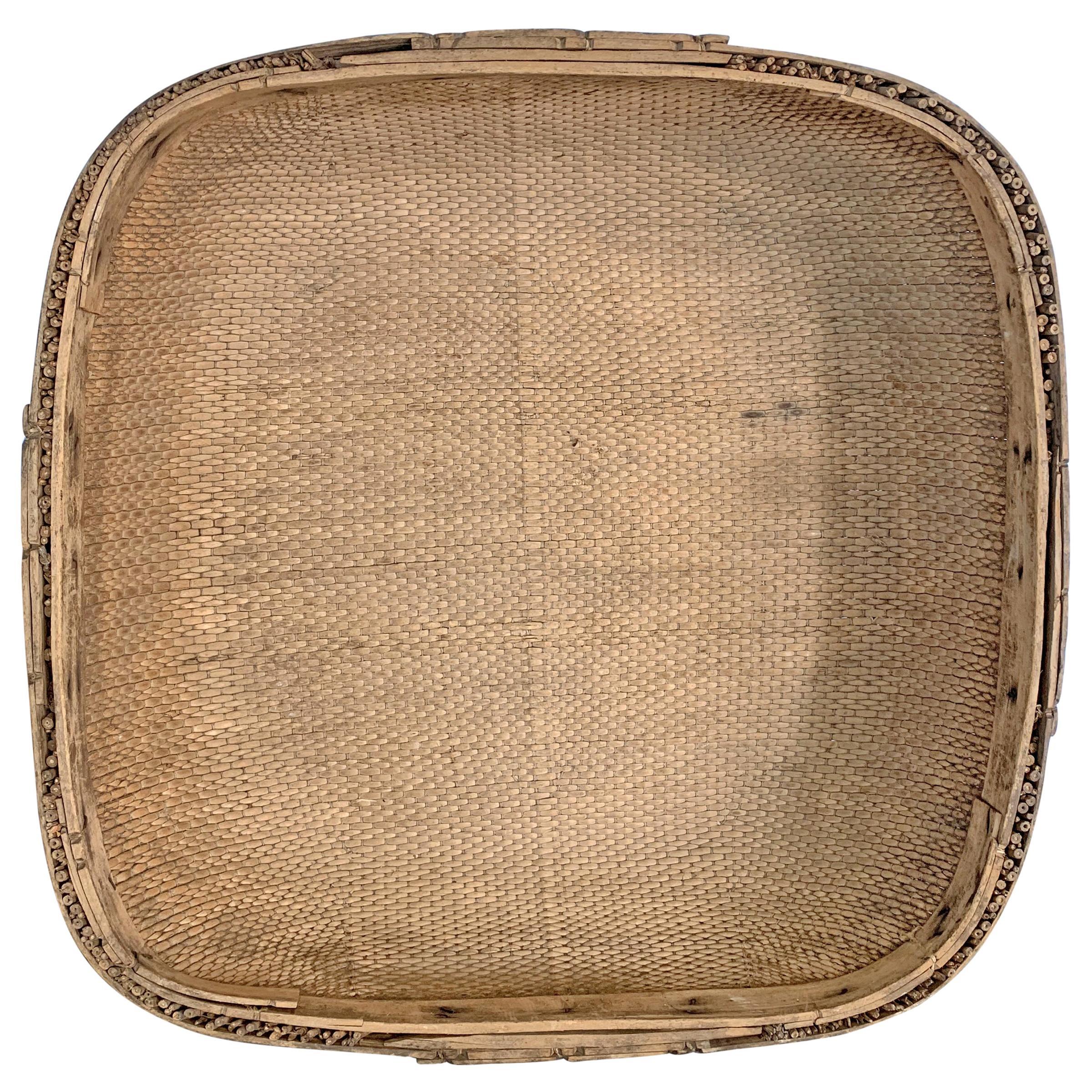 Early 20th Century Chinese Winnowing Basket