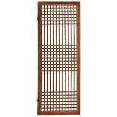 Early 20th Century Chinese Wooden Screen Door