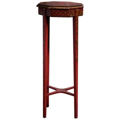 Early 20th Century Chinoiserie Red Lacquered Table
