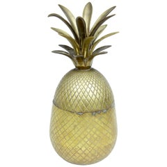 Early 20th Century Chiselled Brass and Gilt Pineapple Box Caddy