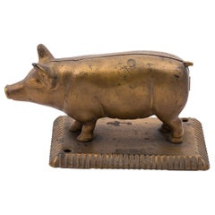 Early 20th Century Cigar Cutter Pig