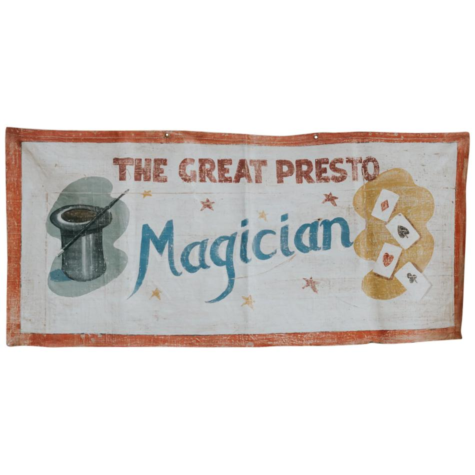 Early 20th Century Circus Banner